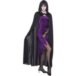 Vampyrcape med huva, svart