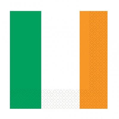 Irländska flaggan pappersservetter - 2-lagers - 16 st
