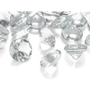 Diamantkonfetti - Färglös 30 mm 5 st
