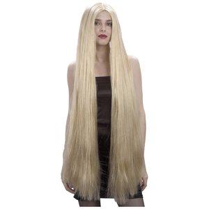 Blond extra lång peruk
