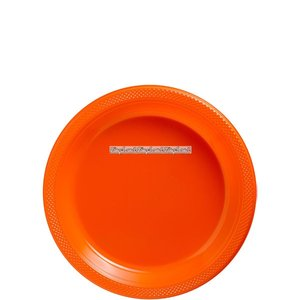 Orange plasttallrikar