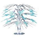 Glittrande minikaskad med blå kors