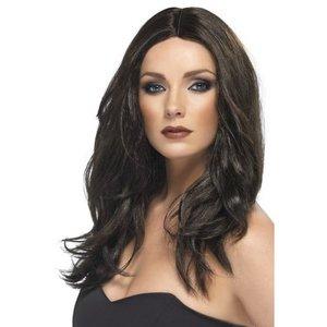 Superstar mörkbrun peruk