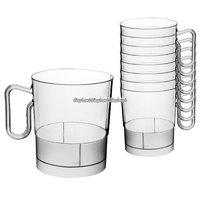 Transparenta kaffemuggar i plast 227 ml - 20 st