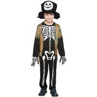 Skelett maskeraddräkt för barn