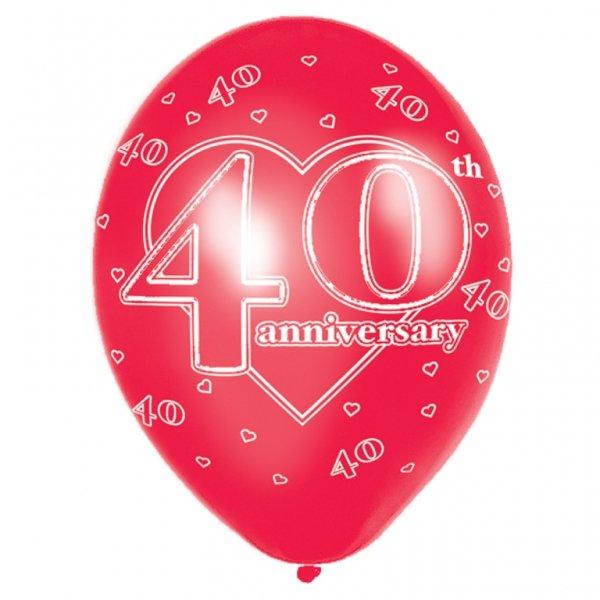 40 år bröllop 40 års bröllopsdag Röda ballonger   28 cm latex   6 st   45 kr  40 år bröllop