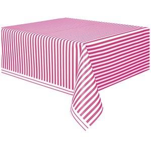 Randig bordsduk - Rosa & vit