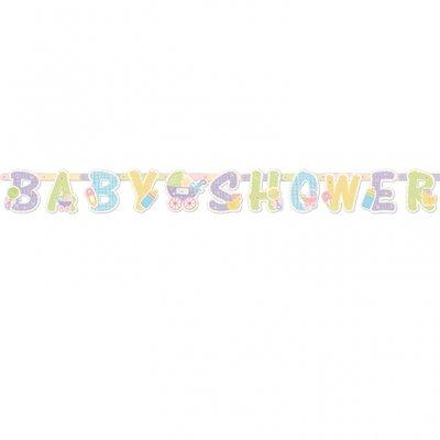 Baby shower banderoll med bokstäver
