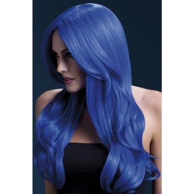 Peruk Khloe neonblå