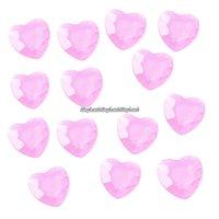 Rosa bordsdiamanter - hjärtan - 21 g