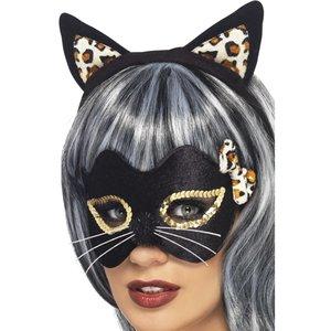 Ögonmask och öron Midnight Kitty
