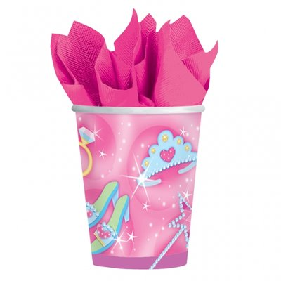 Prinsessparty pappersmuggar 266 ml - 8 st