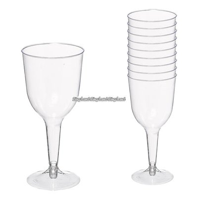 Transparenta vinglas i plast 295 ml - 20 st