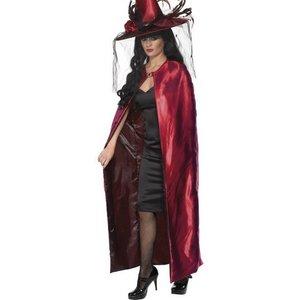 Vändbar cape röd och svart