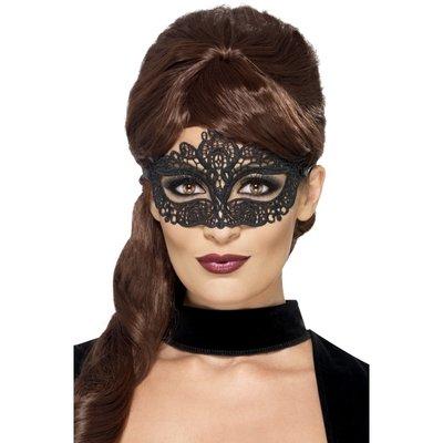 Broderad spets mönstrad ögonmask