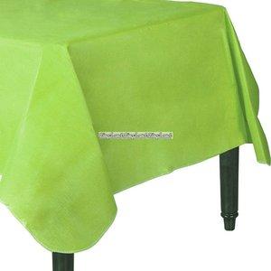 Kiwigrön bordsduk i vinyl med flannel baksida - 132cm x 228cm