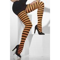 Tights orange och svart randig