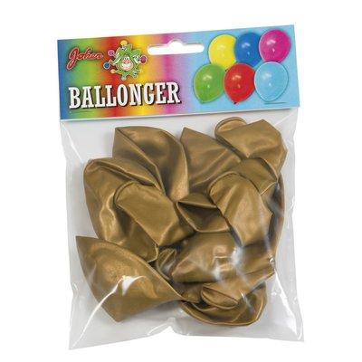 Guldmetallic ballonger - 8pack