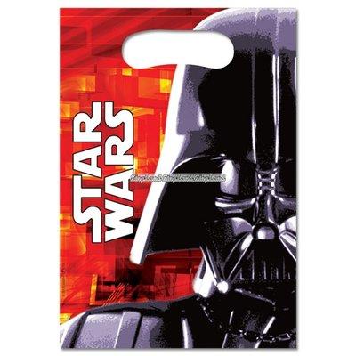 Stjärnornas krig / Star Wars partypåsar i plast - 6 st