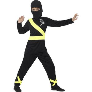 Ninja maskeraddräkt Svart