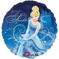 Folieballong - Cinderella A night To Sparkle 45 cm