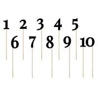 Siffror på pinne - Svart 24-26 cm 11 st