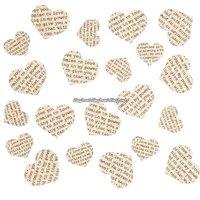 Kärleksdiktskonfetti av papper - 250 st