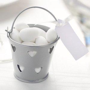 Silverfärgad gåvohink med hjärtan - 5 st