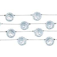Kristallgirlang - Färglös 200 cm