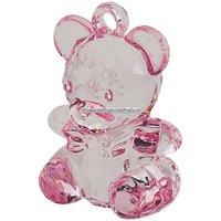 Rosa teddy kristall imitation - 6 st