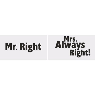 Fotoskyltar - Mr right/MRs always right