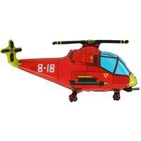 Folieballong - Helikopter Röd Shape