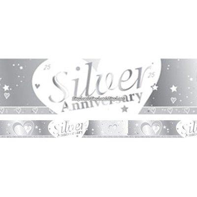 Banderoll - Hjärtan silverbröllop 2,7 m
