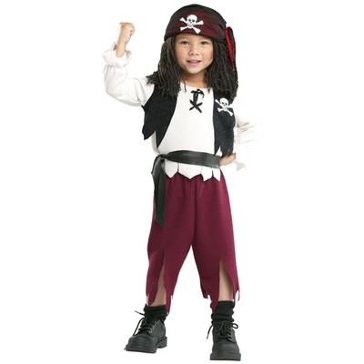 Piratkapten maskeraddräkt för barn