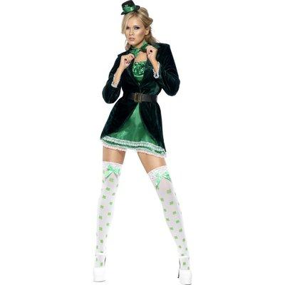 Het St Patrick\\\'s Day maskeraddräkt, grön