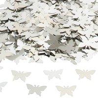 Bordskonfetti Fjärilar silver - 14 g