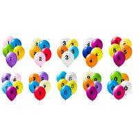 Sifferballonger Latex - 10-pack
