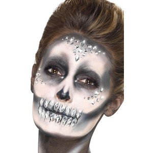 Make-Up FX ansikts juveler - Silver