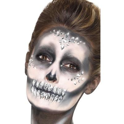 Make-Up FX ansikts juveler - Silver