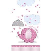 Bordsduk - Baby shower rosa