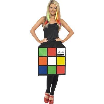 Rubiks kub klänning maskeraddräkt