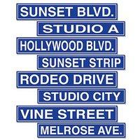 Hollywood skyltar pappfigurer - 4 st