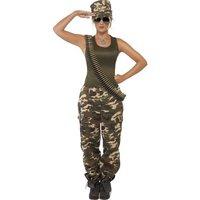 Khaki kamouflage maskeraddräkt