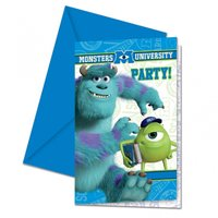 Monster University inbjudningskort - 6 st