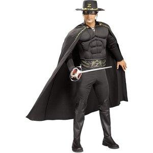 Deluxe Zorro dräkt med bröstmuskler