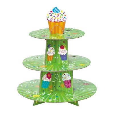 Cupcakestativ - Grönt med cupcakes