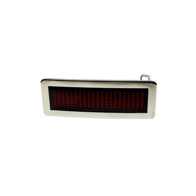 Scrollande bältspänne med LEDs - röd