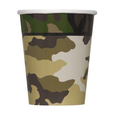 Pappersmuggar med militär camo - 27 cl 8 st
