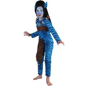 Djungelkrigare barn maskeraddräkt - tjej