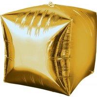 Folieballong - Kub Guld